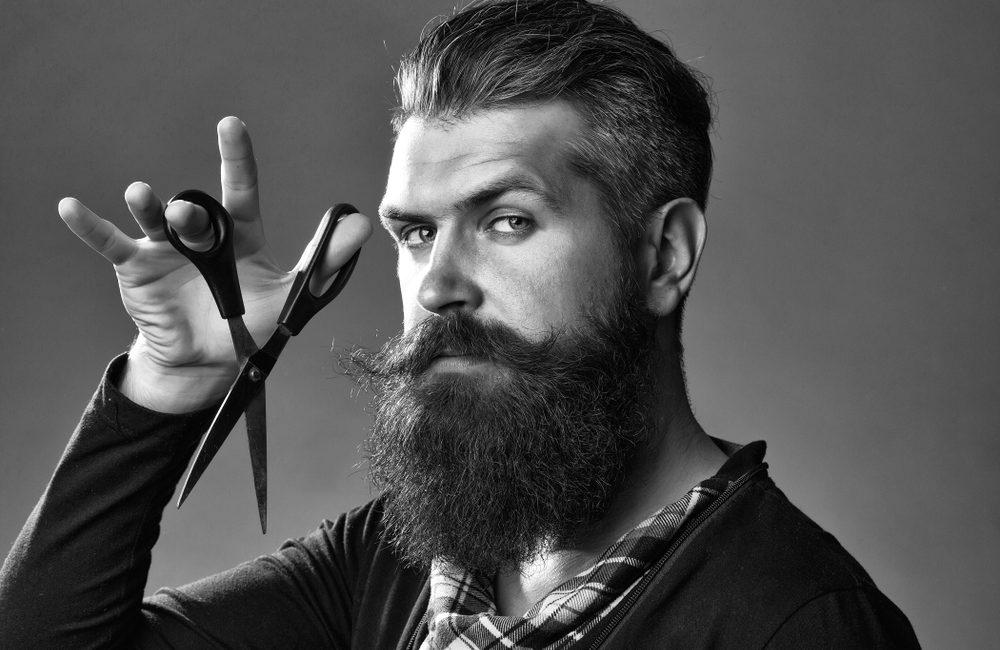 Tailler une barbe fournie