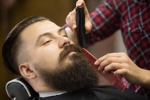 dégradé barbe